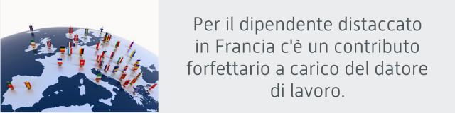 dipendente distaccato Francia contributo forfettario